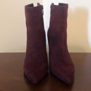 Kendall and Kylie purple suede boots